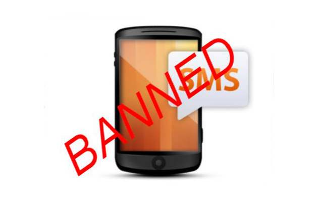 SMS ban was not the only solution?