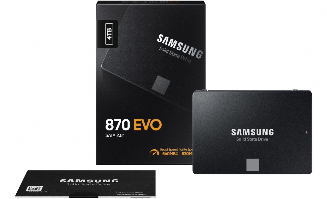 Samsung 870 Evo SATA SSD with up to 560MBps read speeds announced