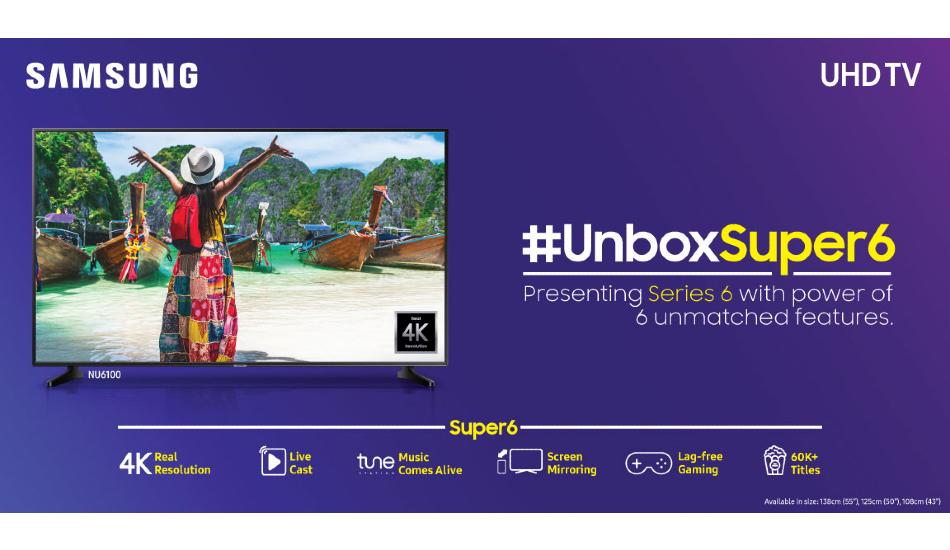 Samsung unveils three Super 6 Series UHD TVs, starting at Rs 41,990