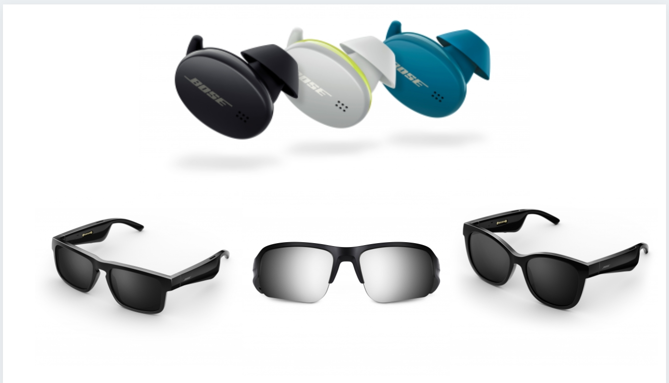 Bose launches QC and Sport Earbuds, along with Tempo, Tenor and Soprano Sunglasses