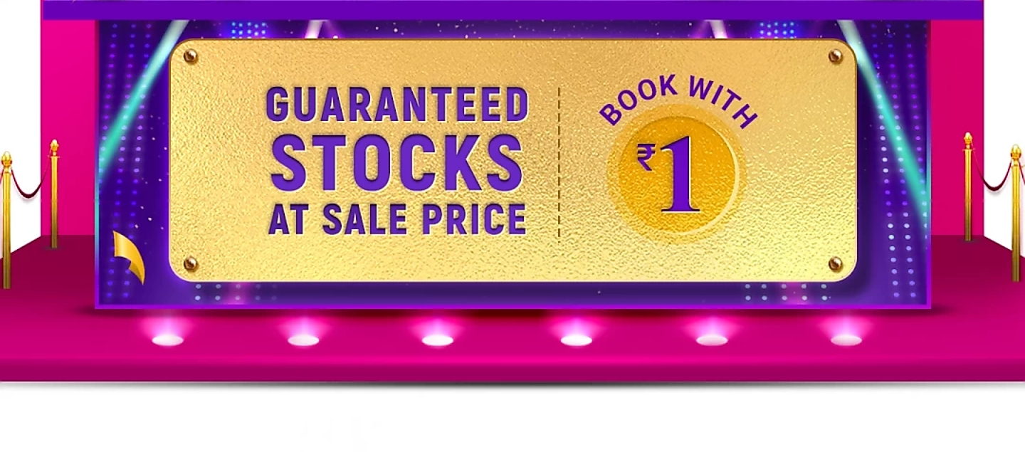 Flipkart allows pre-booking a product for just Rs 1 before BBD sale