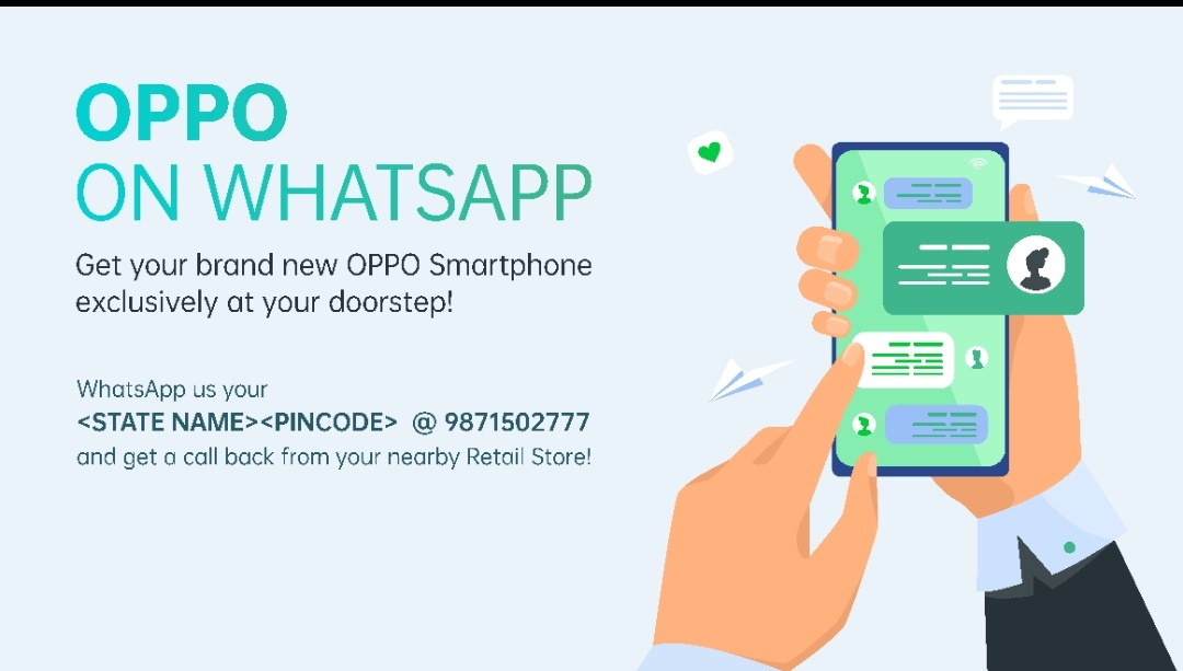 Oppo enables home delivery of products through WhatsApp in India