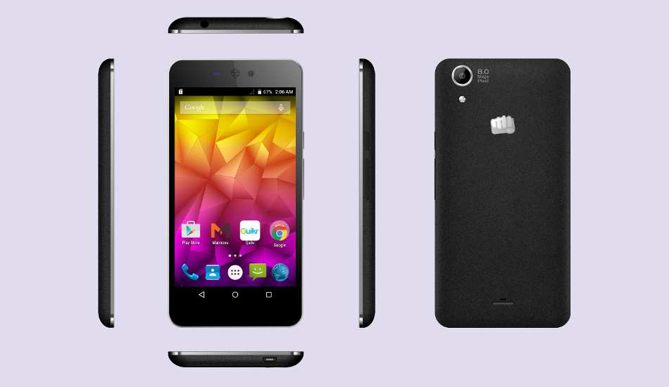 Micromax Canvas Selfie Lens smartphone launched for Rs 8,299
