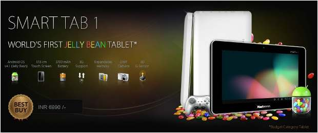 Karbonn launches India's first Jelly Bean tablet