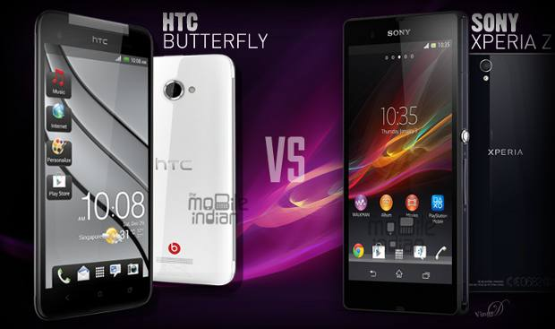 Sony Xperia Z vs HTC Butterfly