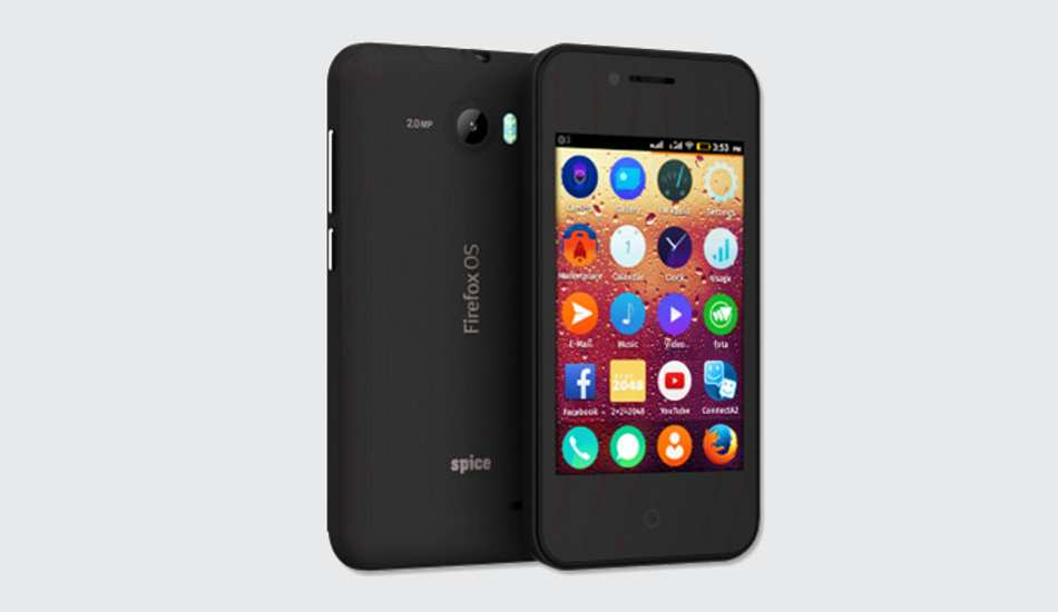 Spice launches another Firefox smartphone, priced at just Rs 2,799