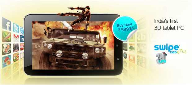 Swipe launches 3G tablet for Rs 5,999