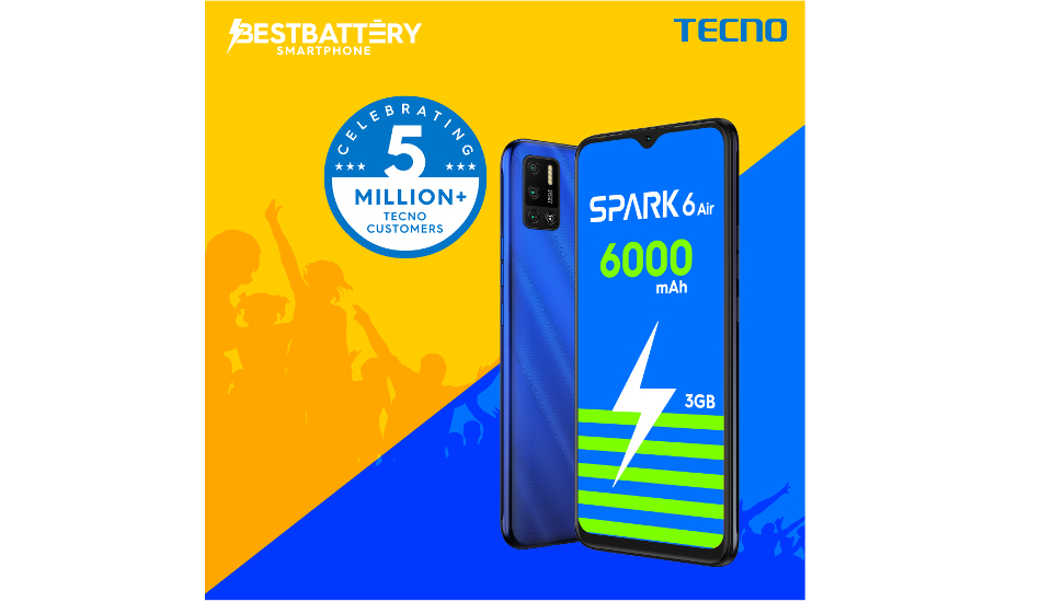 Tecno launches 3GB variant of Spark 6 Air smartphone