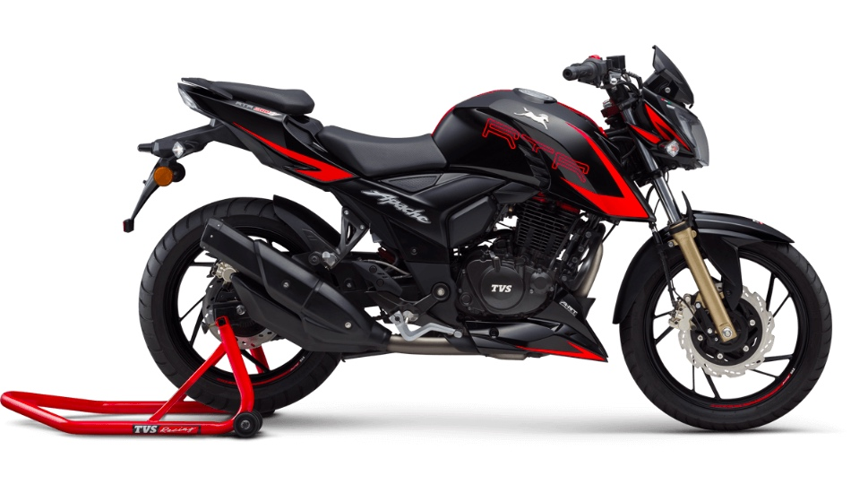 TVS Apache RTR 200 4V now available in four colour options starting Rs 95,685