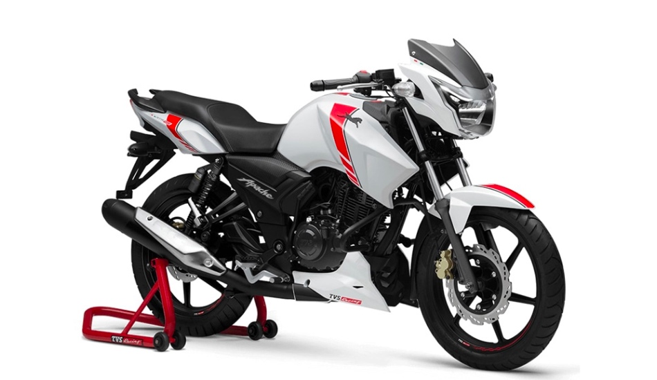 TVS Apache RTR 160 White Race Edition launched in India