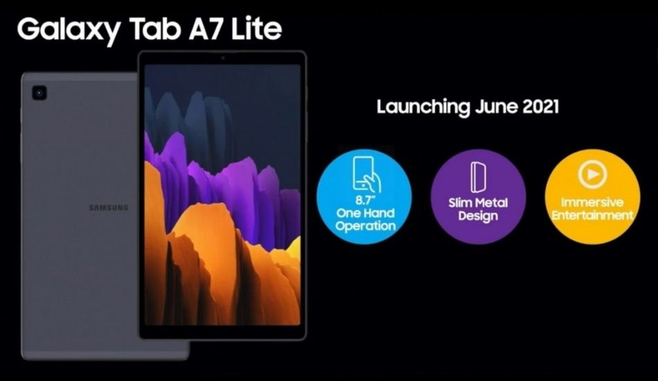 Galaxy Tab A7 Lite key specifications tipped