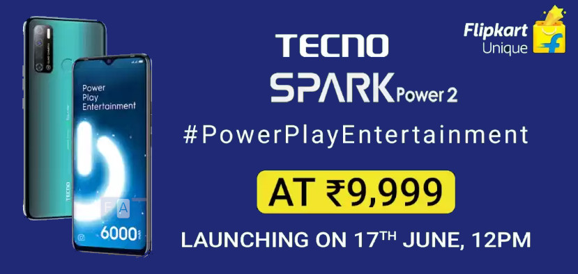 Tecno Spark Power 2 with 7-inch display, 6000mAh battery launched in India for Rs 9,999