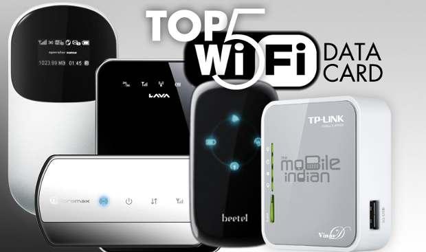 Top 5 pocket WiFi data card