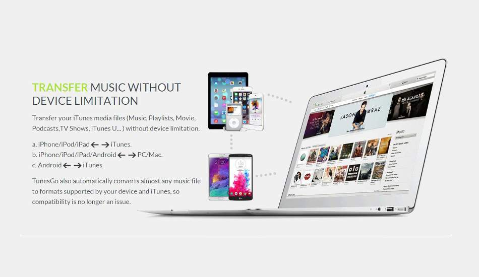 A boon for music lovers, Wondershare TunesGo