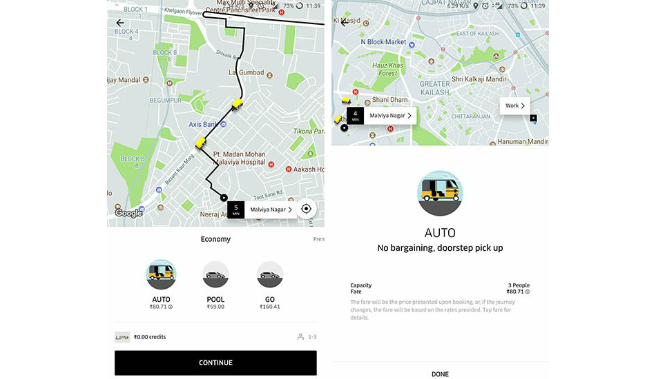 Uber recommences Auto service in parts of Delhi NCR