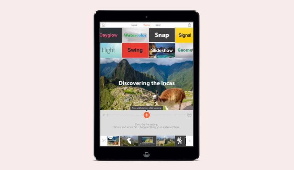 Adobe Voice app for Apple iPad arrives for video storytelling enthusiasts