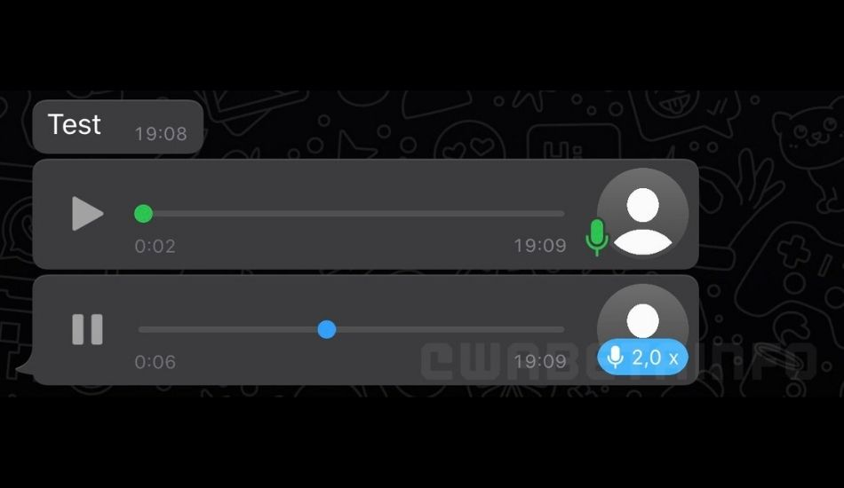 WhatsApp working on a voice messages playback speed feature