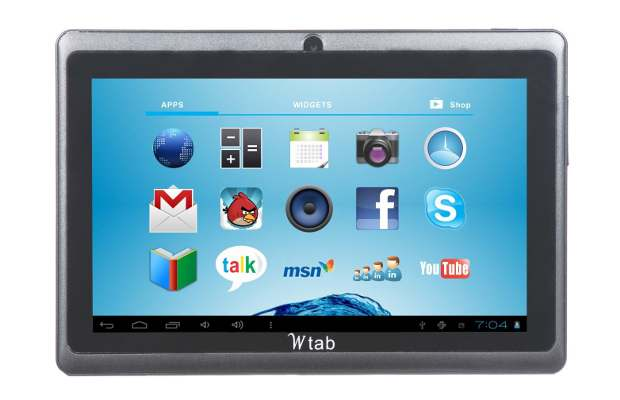 Wtab 7.2, android ICS tablet launched in India for Rs 4899