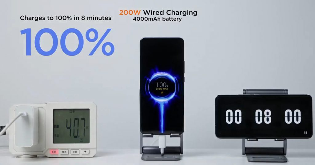 Xiaomi 200W fast charging can fully charge a phone in eight minutes, 120W wireless charging announced
