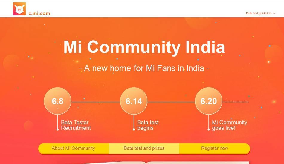 Xiaomi Mi Community launching in India on 20 June