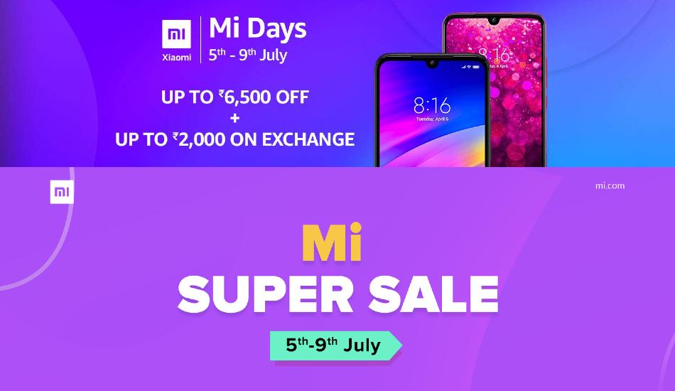 Xiaomi Mi days sale, Mi Super Sale start today