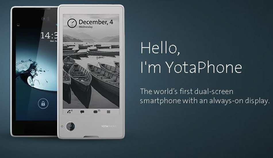 Price drop: Yota Phone now available for Rs 12,999 in India