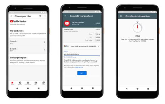 YouTube gets UPI payment support in India