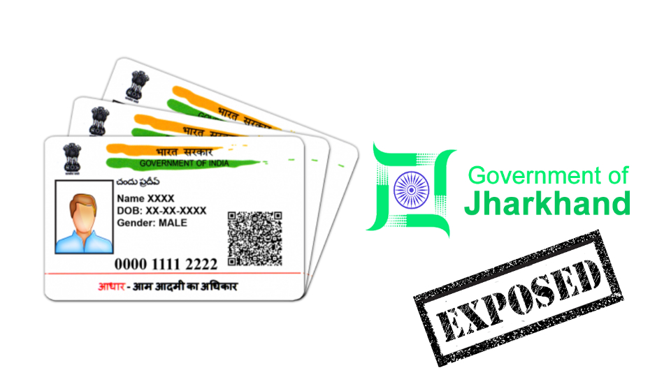 Jharkhand government exposes Aadhaar numbers of several employees