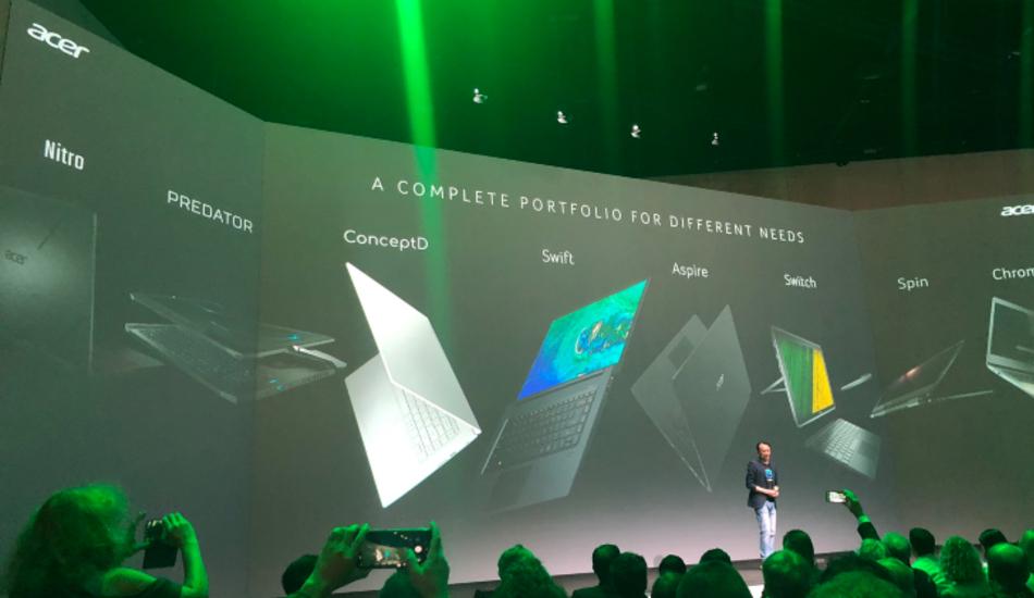 IFA 2019: Acer launches Swift 5, ConceptD Pro, Chromebooks, Nitro monitors, Portable LED Projector