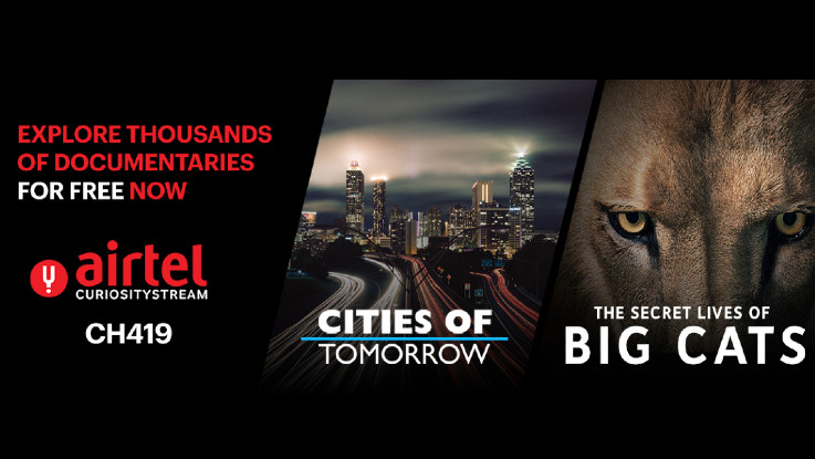 Airtel Digital TV introduces CuriosityStream channel on its platform