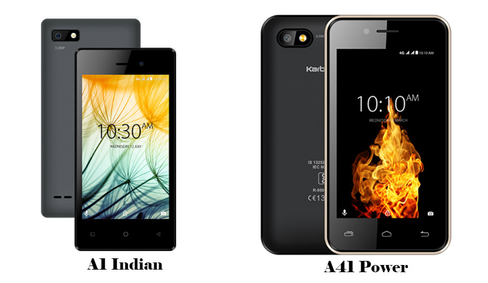 Airtel partners with Karbonn to launch A1 Indian and A41 Power in India