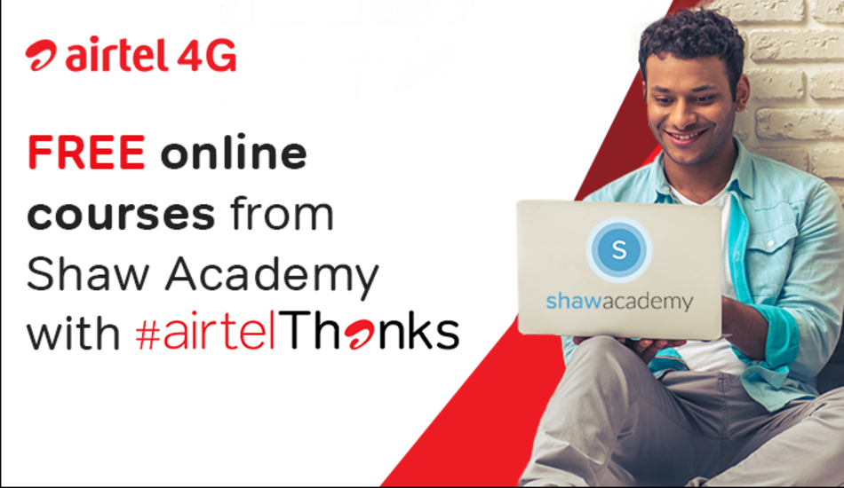 Airtel now offers free access to Shaw Academy through Airtel Thanks program