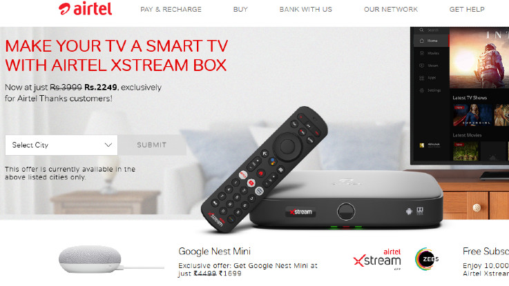 Airtel Xstream Thanks offer: Now get Google Nest Mini at a discounted price