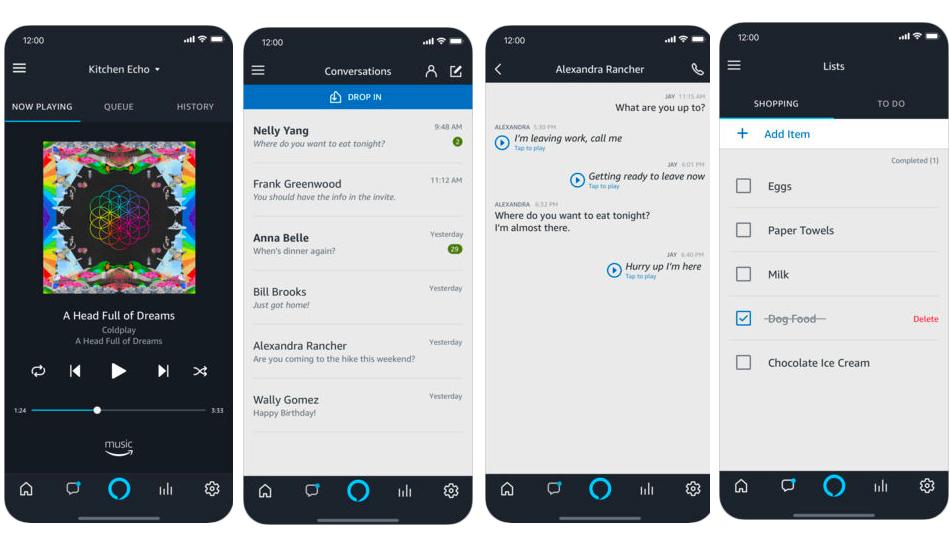 Amazon adds voice controls to Alexa on iOS