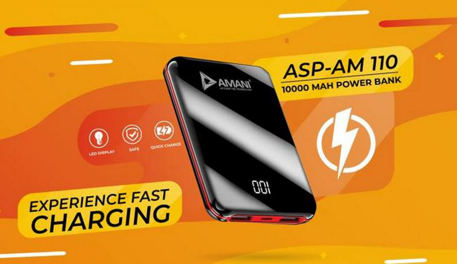 AMANI 10,000 mAH palm sized power bank launched for Rs 1199