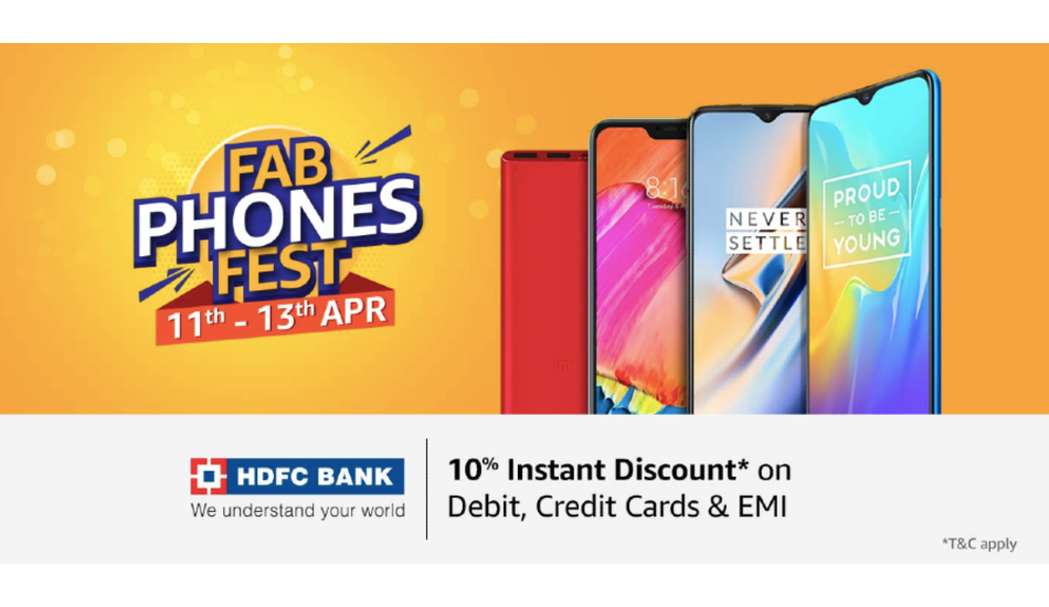 Amazon Fab Phones Fest: Offers on OnePlus 6T, Galaxy S9 and more