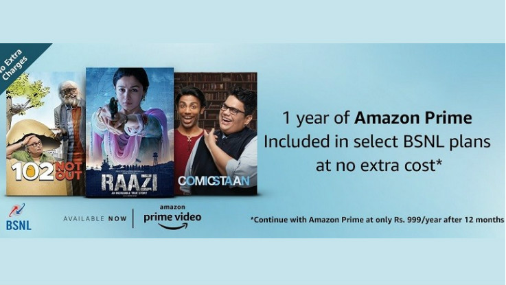 BSNL offers 1 year of free Amazon Prime subscription on select postpaid, broadband plans