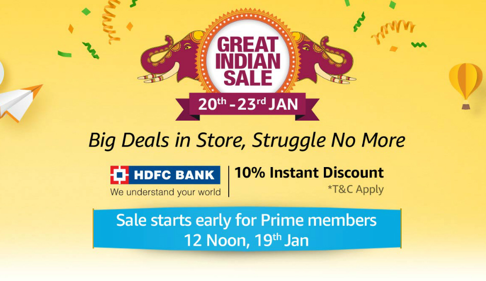 Amazon Great Indian Sale to begin from January 20