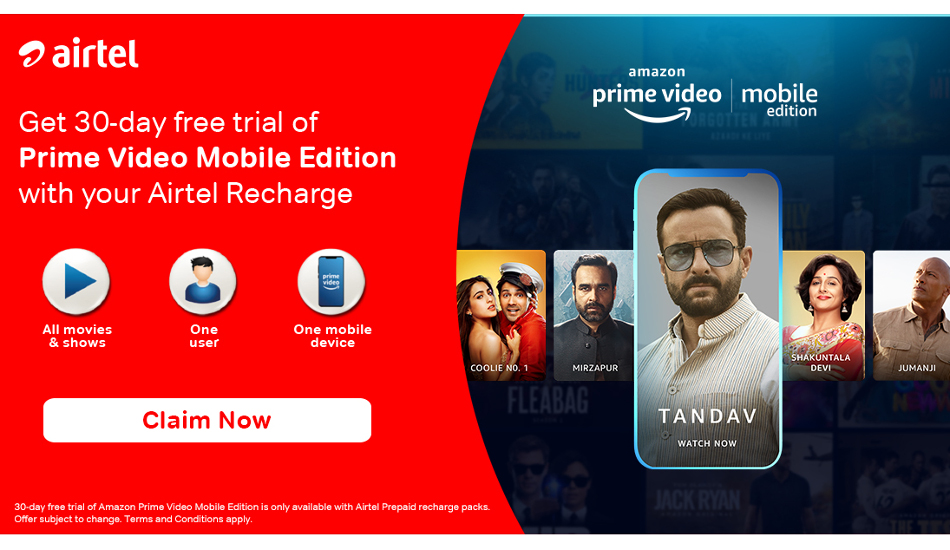 How to avail free Amazon Prime Video subscription using Airtel Infinity postpaid plans