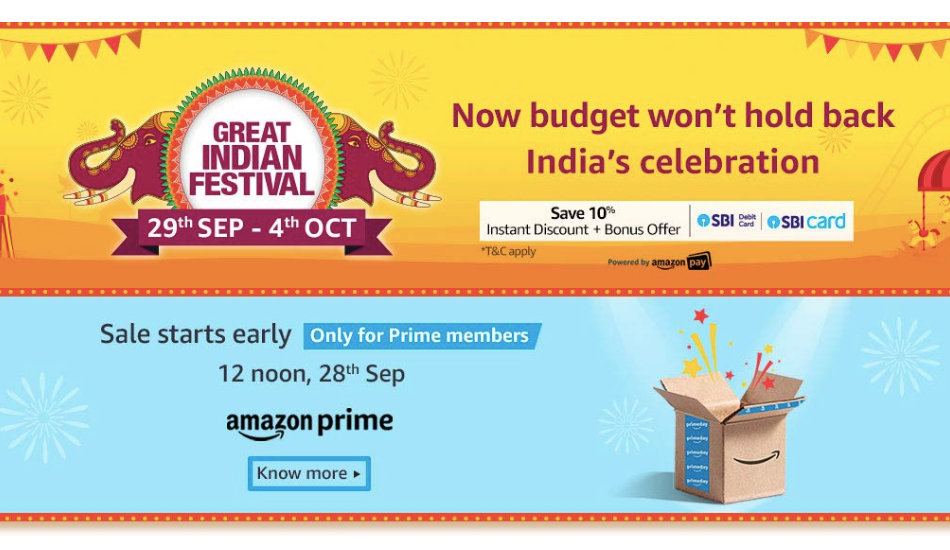 Amazon Great Indian Festival: Deals on OnePlus 7, Galaxy Note 10, LG W30, Galaxy M30, iPhone XR and more