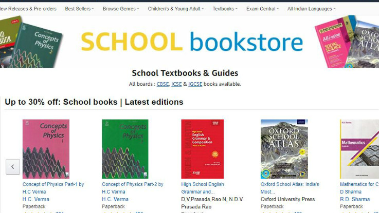 Amazon introduces School Bookstore in India