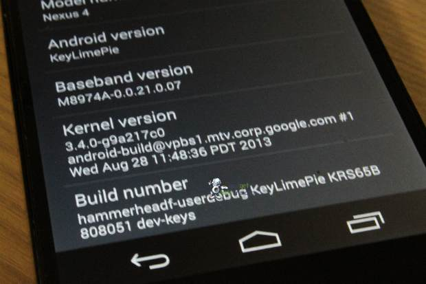 Images of Android 4.4 Key Lime Pie point at new features