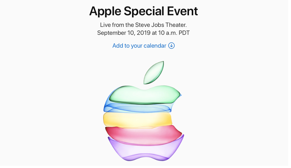 Apple officially schedules iPhone 11 launch event on September 10