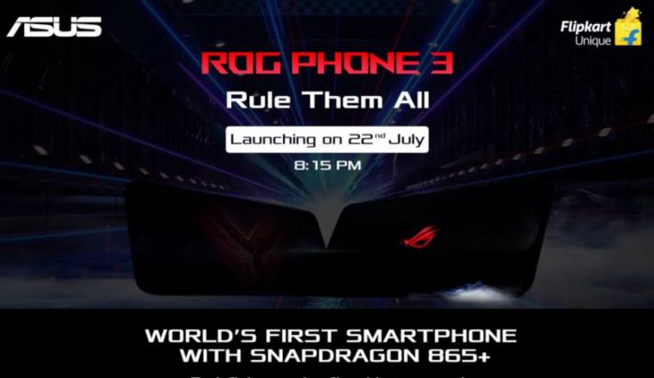 Asus ROG Phone 3 with Qualcomm Snapdragon 865+ Soc launching tomorrow