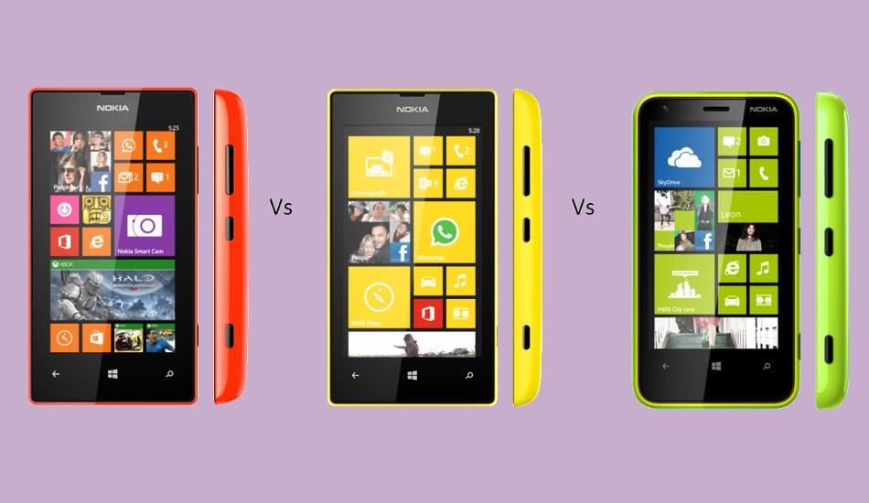 Nokia Lumia 525 vs Lumia 520 vs Lumia 620