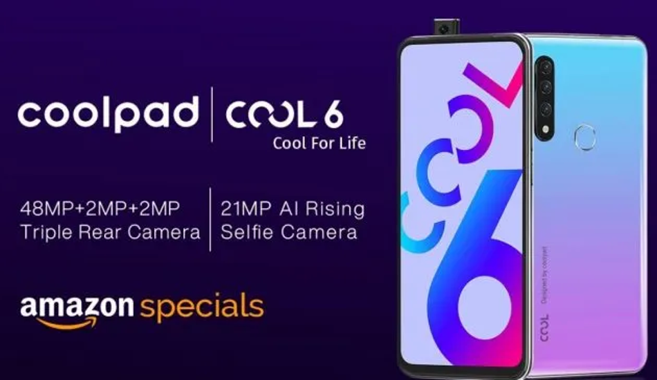 Coolpad Cool 6 with 21 MP pop-up selfie camera launched in India, price starts Rs 10,999