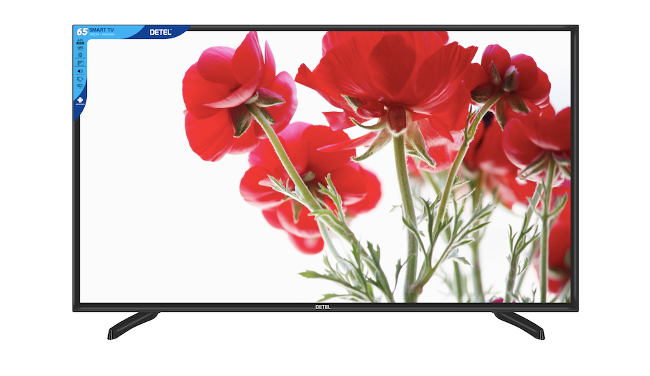 Detel introduces 65-inch 4K LED Android Smart TV for Rs 57,999