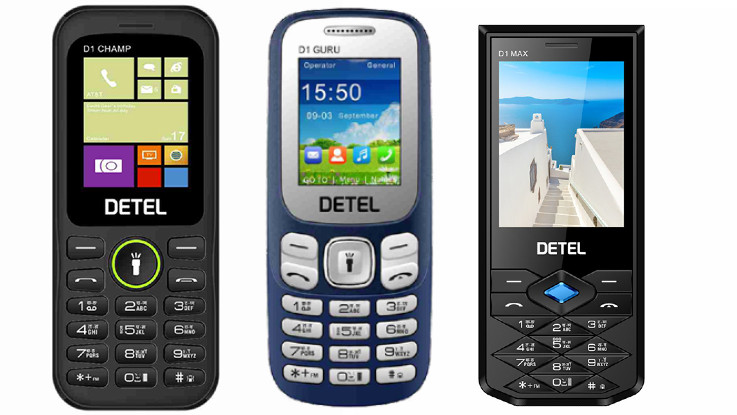 Detel D1 Guru, D1 Champ, D1 Star, and D1 Max feature phones launched in India