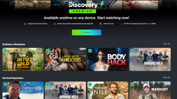 Discovery Plus streaming service dropped its annual subscription plan amind lockdown in India