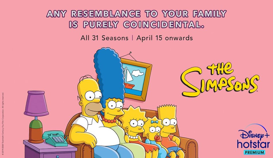The Simpsons:Making its way to Hotstar Disney+ Today